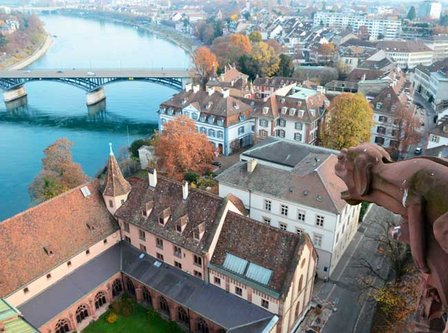 Basel is a Swiss city located in north-western Switzerland where the Swiss, German and French boundaries meet.