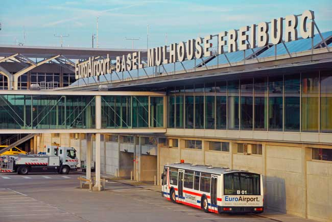 EuroAirport Basel-Mulhouse-Freiburg is the main international airport serving the cities of Basel, Mulhouse and Freiburg.